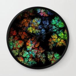 Leaves - fractal art Wall Clock