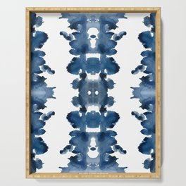 Blue Ink Blots Serving Tray