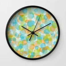 Pebbles Turquoise Wall Clock