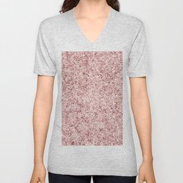 Modern abstract faux rose gold paper texture Unisex V-Neck