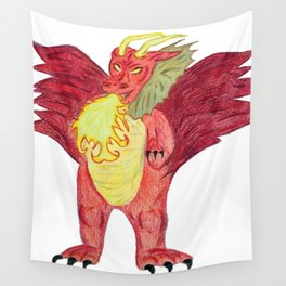 Breathing Fire Wall Tapestry