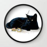 luna Wall Clocks featuring Luna by artbyteesa