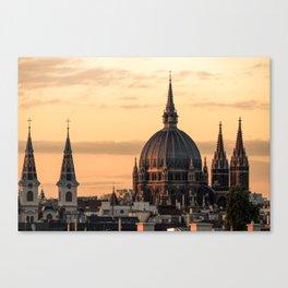 Golden Rooftop Canvas Print