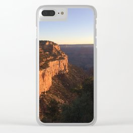 Grand Canyon - Bright Angel Trailhead (early morning) Clear iPhone Case