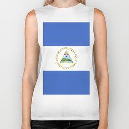 Nicaragua flag emblem Biker Tank