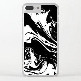 Black liquid ink 5 Clear iPhone Case