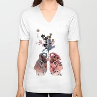 lungs V-neck T-shirts featuring Lungs by La Scarlatte
