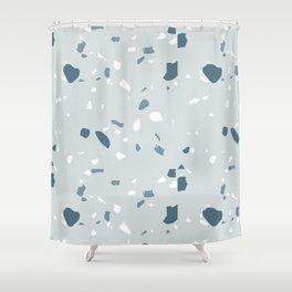 Terrazzo blues Shower Curtain
