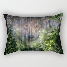 The Spirit of the Wild Rectangular Pillow