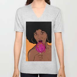 Love to defeat Hate Unisex V-Neck