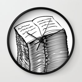 Read and Write A to Z Black on White Wall Clock