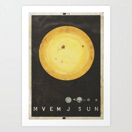 Planetary Arrangement Art Print