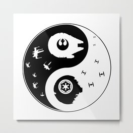 Star War Ying and Yang Metal Print