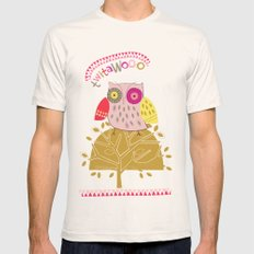 Birds and Blooms 4 Natural SMALL Mens Fitted Tee