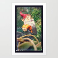 gnome Art Prints featuring Gnome by Angelandspot