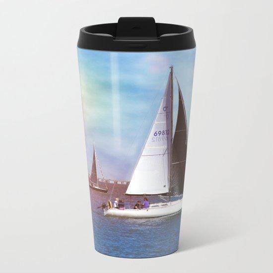 Sail Boats Metal Travel Mug