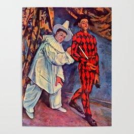 "Paul Cezanne ""Pierrot and Harlequin (Mardi gras)"", 1888 Poster"