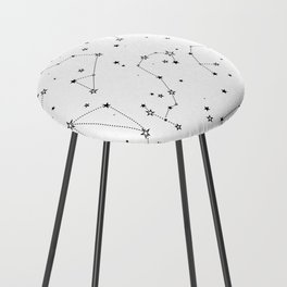 stars in the zodiac constellations Counter Stool