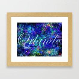 Downtown Orlando Canvas Text Framed Art Print