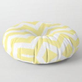 Mellow yellow - yellow color - Zigzag Chevron Pattern Floor Pillow