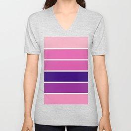 StrIPEs : Pink Lavender Purple Ombre Unisex V-Neck