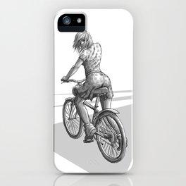 Fille à vélo iPhone Case