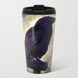 Black Raven of Peace Metal Travel Mug