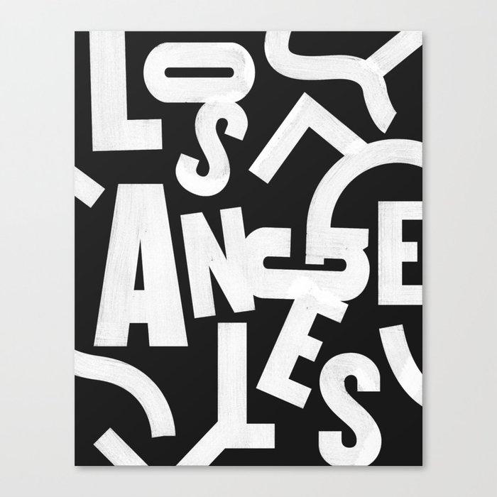 Los Angeles Routes Canvas Print