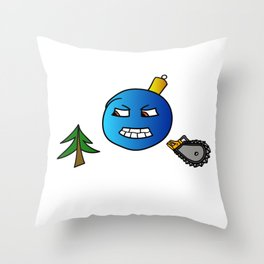 Evil Christmas series Christmas tree toy Throw Pillow