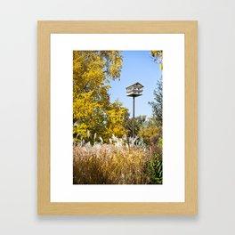 Fall Birdhouse Framed Art Print
