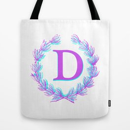 Hello Gabby Monogram Collection - Letter D Tote Bag