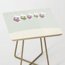 Christmas Socks Side Table