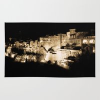 medieval Area & Throw Rugs featuring Medieval Night by Schwebewesen • Romina Lutz