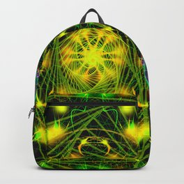 Black Scratch Mandala 5 Backpack