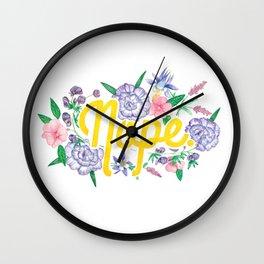 Profanity Flowers #3: NOPE Wall Clock