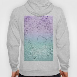 Sparkling MERMAID Girls Glitter Heart #1 #decor #art #society6 Hoody