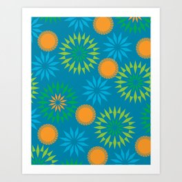 Spikey Flower Calm Art Print