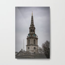 Steeple of  St. Martin in the Fields Anglican Church London England Metal Print