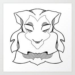 Wise Monkey Art Print