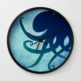 Indigo Mastermind ~ Octopus ~ Marine Life ~ (Copyright 2014) Wall Clock