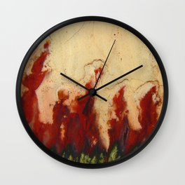 Christmas Tree Plume Agate Wall Clock