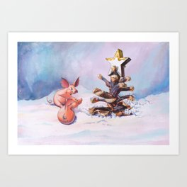 Piggy Christmas Art Print