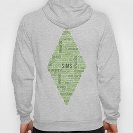 Sims Plumbob Typography Hoody