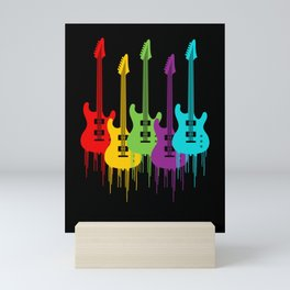 Colorful Guitars | Music is the color for the ears Mini Art Print