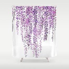 purple wisteria in bloom Shower Curtain