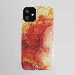 Golden Flames Abstract Ink - Part 2 iPhone Case