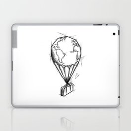 Balloon Handmade Drawing, Made in pencil, charcoal and ink, Tattoo Sketch, Tattoo Flash, Sketch Laptop & iPad Skin