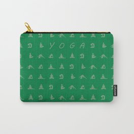 Yoga in Green Carry-All Pouch