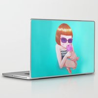 ice cream Laptop & iPad Skins featuring Ice cream by Maripili