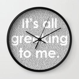 It's all greeking to me. Wall Clock